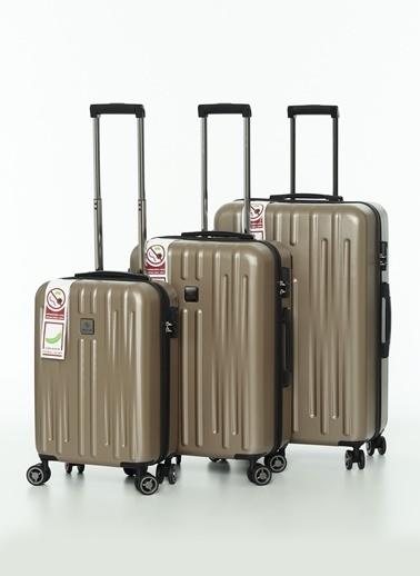 NİPPON 3'lü Set Valiz Bronz